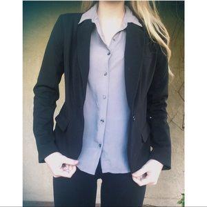 Merona black blazer business jacket size small